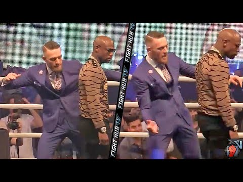 Thumbnail: Conor McGregor Taunts Mayweather, pretends to SLAP Mayweather's ASS