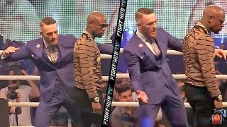 Conor McGregor Taunts Mayweather, pretends to SLAP Mayweather