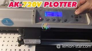 Round labels sticker contour cutting by AK720V plotter de corte