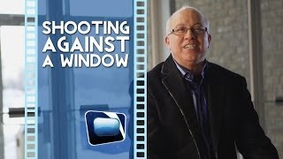 Film Scene - Shooting a Video Interview Against a Window