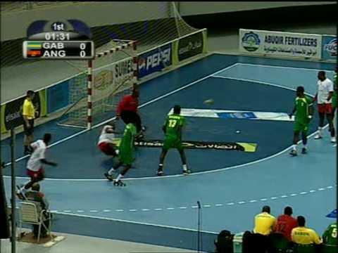 Gabon handball vs angola coupe d 39 afrique des nations de handball egypte 2010 youtube - Coupe d afrique handball ...