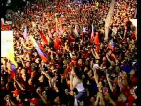 Chávez Canta El Himno Nacional En Cadena Tras Su Victoria Este 7 De Octubre De 2012