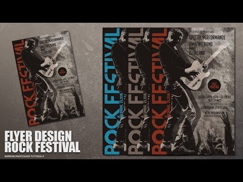 [Photoshop Tutorial]Create a Concert Flyer Design With Grunge Style In Photoshop