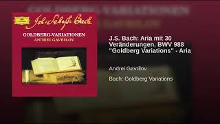 J S  Bach  Aria mit 30 Veränderungen, BWV 988  Goldberg Variations    Aria