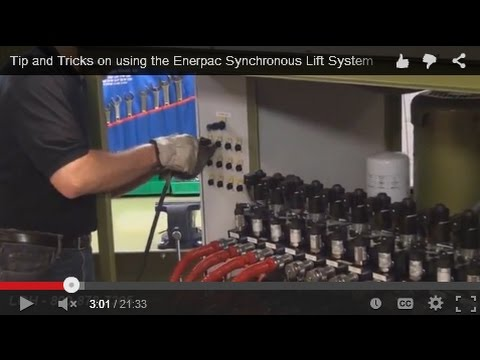 Tip and Tricks on using the Enerpac Synchronous Lift System