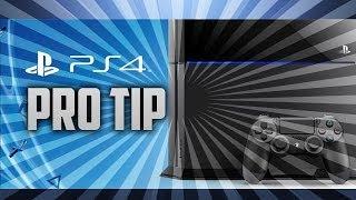 PS4 Hard Drive Memory Storage Pro Tip