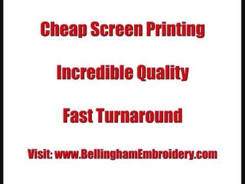 Bellingham WA Screenprinting T shirts Company Logo