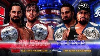 WWE 2K18 Survivor Series 2017 - Seth Rollins & Dean Ambrose vs The Usos Champions vs Champions Match