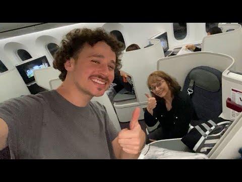 Mi mamá viaja en primera clase por primera vez! ❤