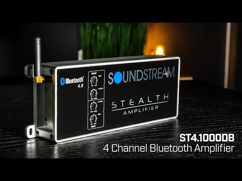 Soundstream Stealth Series ST4.1000DB 4 Channel Cl D Amplifier ... on