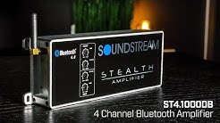 Soundstream Stealth Series ST4.1000DB 4 Channel Class D Amplifier with Bluetooth - 1000 Watts