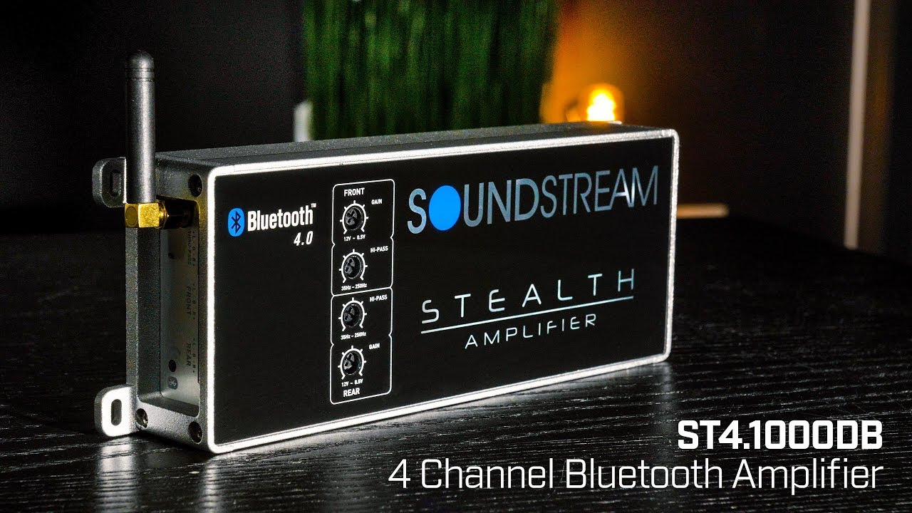 Soundstream Stealth Series ST4 1000DB 4 Channel Class D Amplifier with  Bluetooth - 1000 Watts