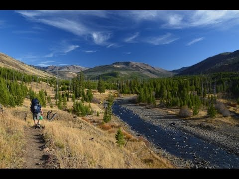 Backpacking Yellowstone National Park.  The Lamar River, Mist Pass, and Wapiti Lake