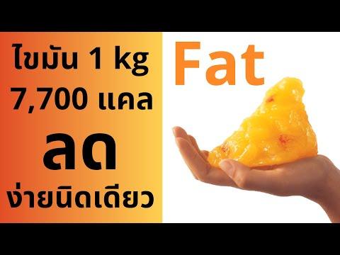 ลดไขมัน 1 kg = 7,700 แคลอรี่ / โฟกัสแค่ 2 อย่างนี้ ลดไขมันได้ผล 100%