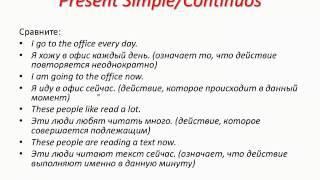 """Вебинар №1 """"Как различить времена групп Simple/Continuous"""""""