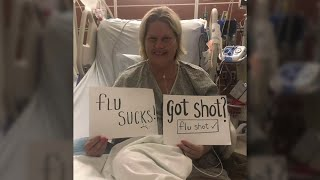 NC woman who nearly died from flu complications encourages others to get vaccinated