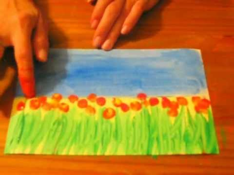 Field of Flowers: A Preschool/Early Elementary Painting Lesson ...