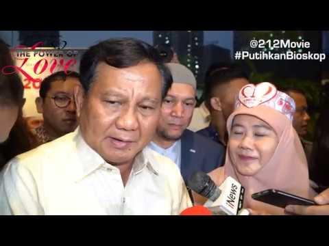 Komentar Pak Prabowo Setelah Nonton 212 The Power of Love