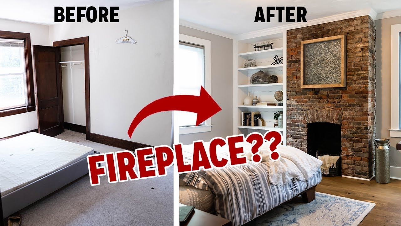 Insane Bedroom Transformation I Find A Hidden Fireplace Youtube