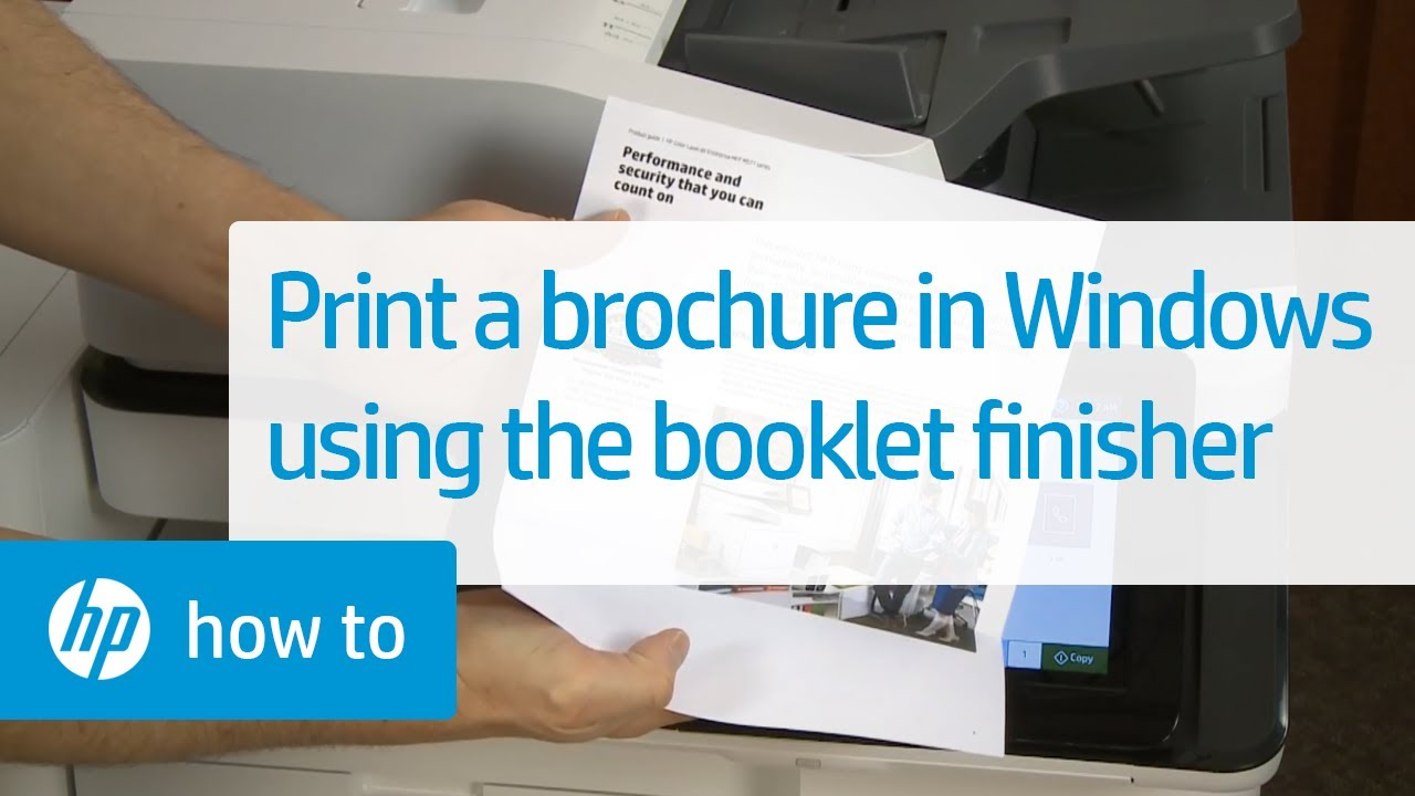 Printing a Brochure from Windows Using the Booklet Finisher