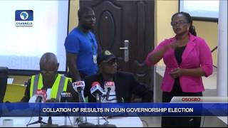 Collation Of Results In Osun Governorship Election Pt.5  Osun Decides 