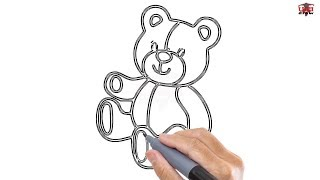 How to Draw a Teddy Bear Easy Step By Step Drawing Tutorials for Kids – UCIDraw