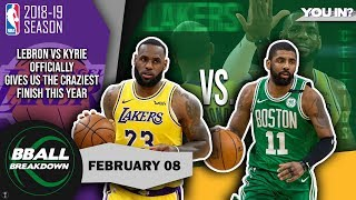 Click HERE for my *FREE* video: http://bit.ly/3FavActions When the Boston Celtics took a big lead early, it looked like the Los Angeles Lakers would fold under the strain of all the trade rumors and in team fighting. But we were all in for a treat as this game had some of the most ridiculous plays down the stretch, as the Lakers pulled it off somehow.  For more in depth NBA analysis, LISTEN to our podcast on iTunes: http://apple.co/2jsG4oy and Stitcher: http://bit.ly/2jp70Io SUBSCRIBE HERE FOR MORE: http://bit.ly/BBallSub MUSIC: Fighting For Freedom by Anno Domini We're not a channel, we're a conversation. Join in via the comments below or on Twitter and Facebook! INSTAGRAM: http://bit.ly/bballInsta TWITTER:  http://bit.ly/BBallTweets FACEBOOK:  http://bit.ly/BBallFB WEBSITE:  http://bit.ly/BBallWeb  ABOUT BBALLBREAKDOWN BBallBreakdown is devoted to deep-dive analysis of NBA basketball gameplay.  Giving fans a taste of a pro coach's film session, host Coach Nick breaks down fundamentals, play calling, offense, defense, shooting form, officiating, and everything else basketball.  In addition, see exclusive interviews with NBA players and coaches, from active super stars to retired legends.