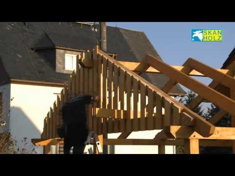SKAN HOLZ Carport démonstration du montage (français)