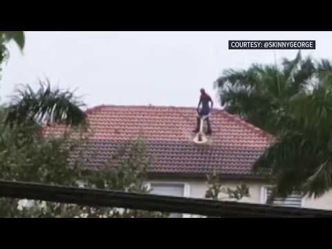 Crash & AJ - Florida Man Dressed as Spiderman Power Washes Roof