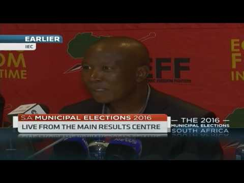 EFF's Julius Malema challenges journalists covering S.A elections to be innovative