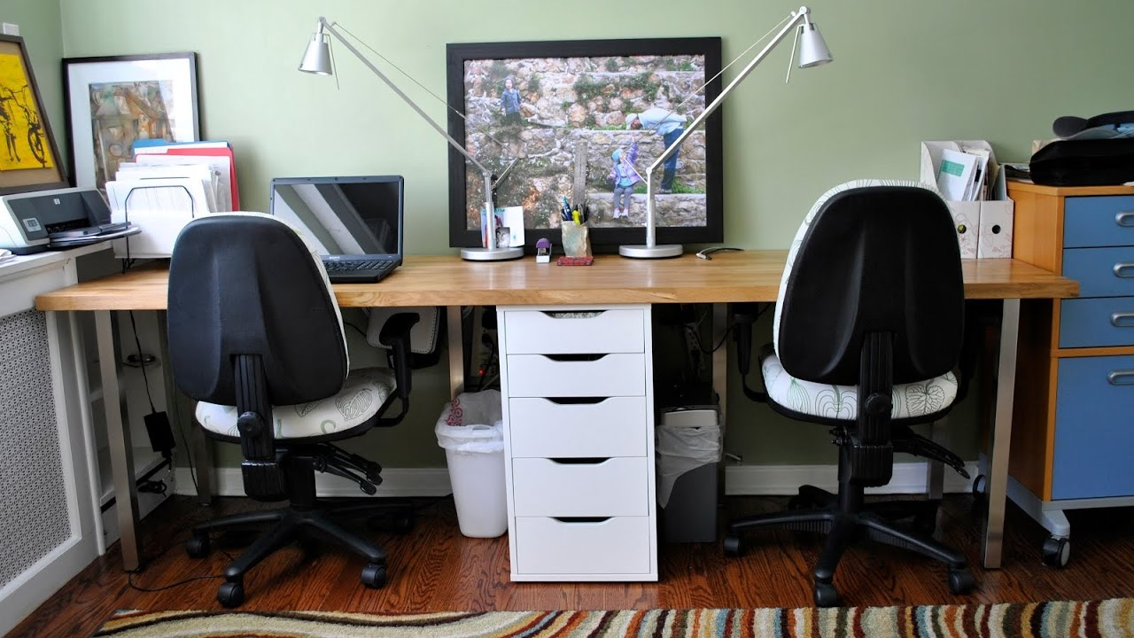 Exceptionnel Images Of 2 Person Desk For Home Office   Home Design Ideas