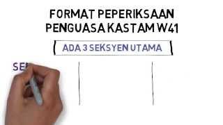 Format Soalan Peperiksaan Online Penguasa Kastam Gred W41 (TERBARU)