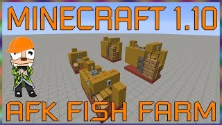 minecraft 1 10 afk fish farm tutorial basic and hardcore builds