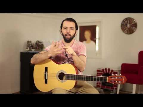 Gitar Dersleri 9 -  Barış Manço GÜLPEMBE nasıl çalınır - Arpej ve bare dersi
