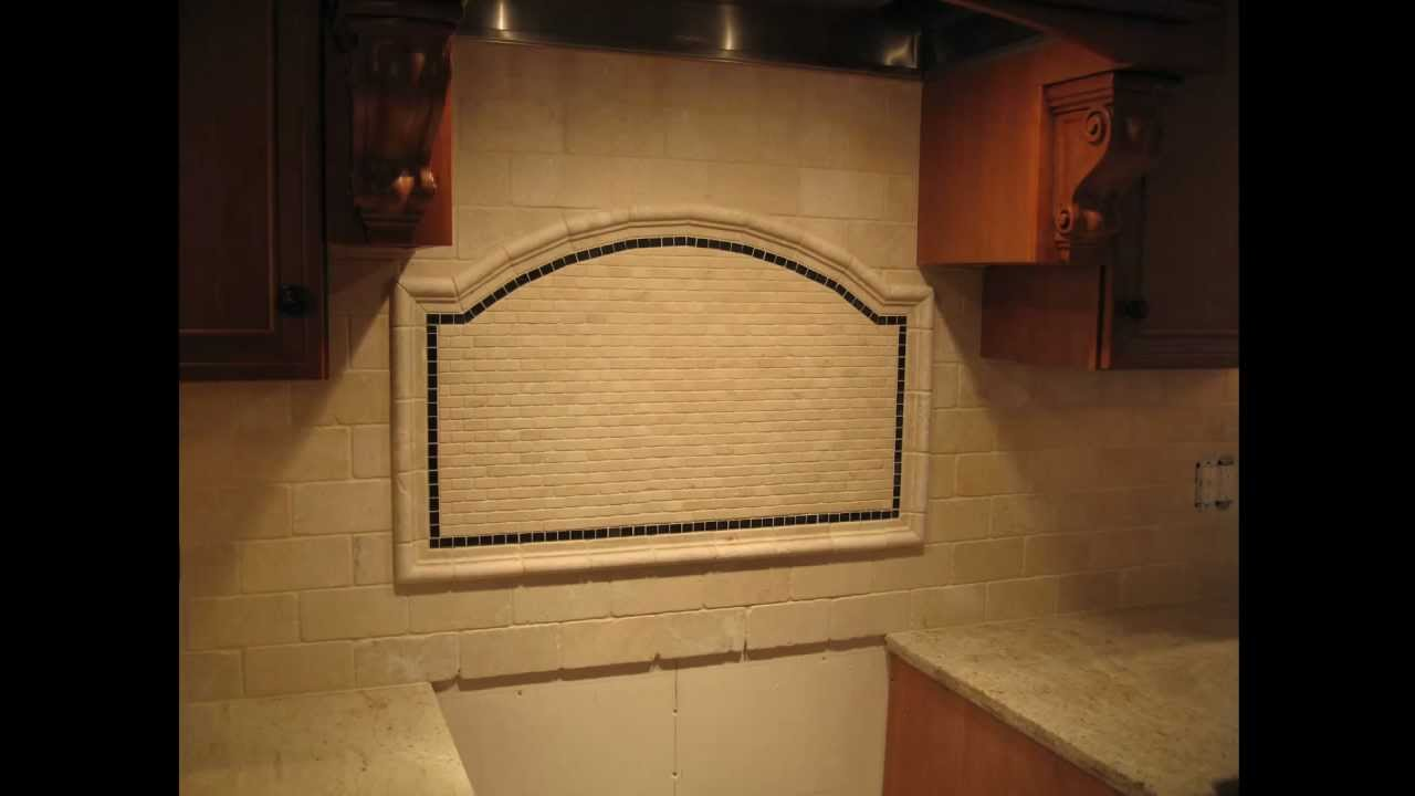 mosaic kitchen tile wall cabinets unfinished tumbled marble subway backsplash - youtube