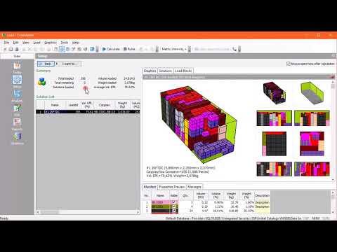 Building Sea Container Load - CubeMaster