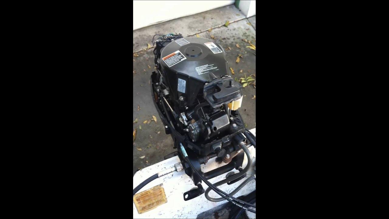 25hp Mercury Outboard Two Stroke Part 1  YouTube