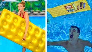 6 Ways to Snęak Food into the Pool and Movies! Simple Pranks Ideas by Mr Degree