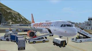 LET`S PLAY Flight Simulator X / Mit A320 easyJet von Lissabon nach Gibraltar