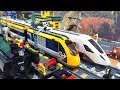 High speed trains at Lego City with NEW passenger train 60197 + 60051