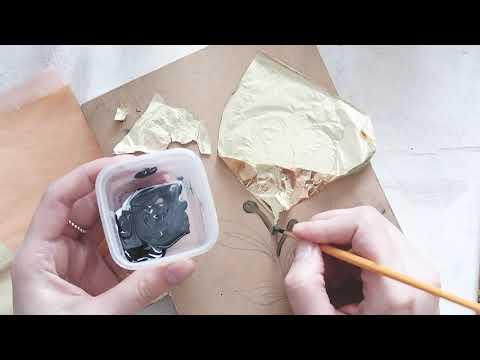 Как наносить поталь на все поверхности, эффект золочения