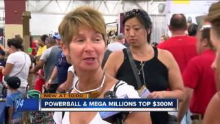 Powerball and Mega Millions top $300 million