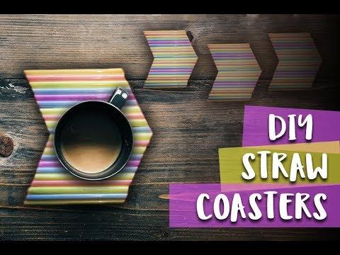 DIY Straw Coasters | Tea Coaster (Easy)
