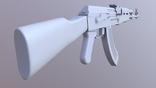 2,77 Blender AK modeli nasıl yapılır-47 ; bölüm 1