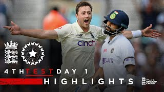 India Bowled Out for 191!   England v India - Day 1 Highlights   4th LV= Insurance Test 2021