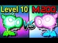 Plants vs Zombies 2 Compare Mastery 200 vs Level 10 Electric Peashooter PvZ 2 Gameplay
