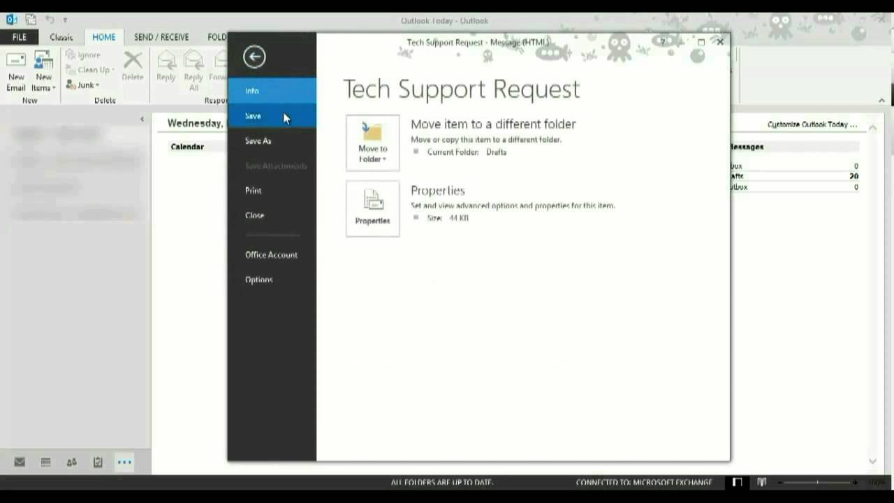 How to create a template in Outlook 2013 - YouTube