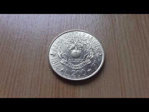 Arma Dei Carabinieri coin of Italian Lira in HD