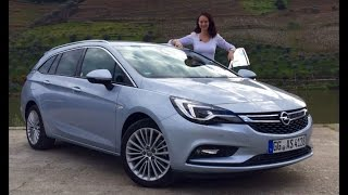 New 2016 Opel Astra Sports Tourer Test Drive(The New Opel (Vauxhall) Astra Sports Tourer taken for a beautiful test drive in Vale Do Douro, Portugal ..., 2016-03-24T10:28:42.000Z)