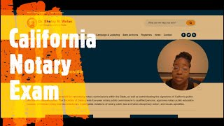 How to: CA Notary Exam